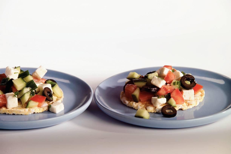 Cracker Griekse salsa