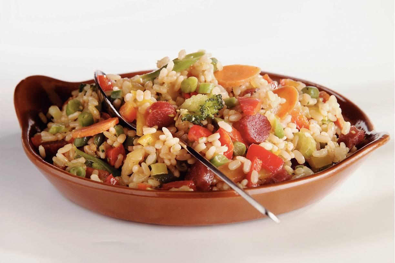 Mexicaanse risotto met cervelaatworst