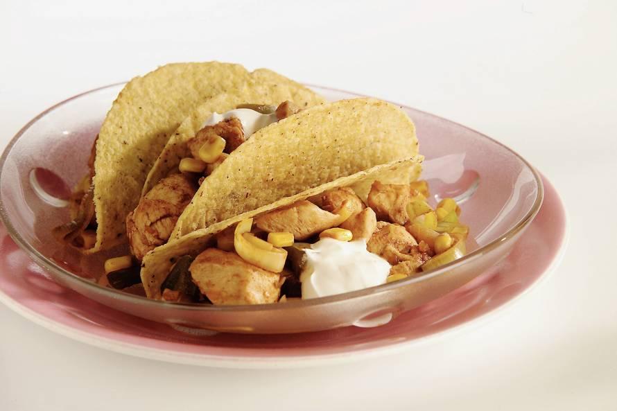 Taco's met kip en maïs