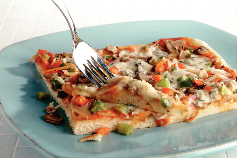 Groentepizza met gorgonzola