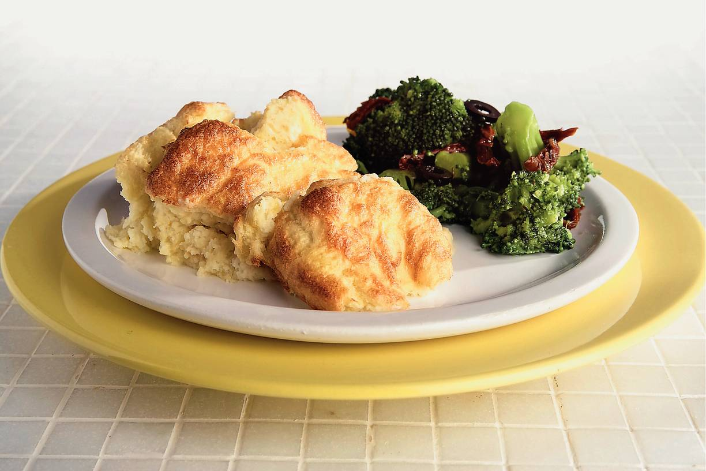 Romige aardappel-kaassoufflé