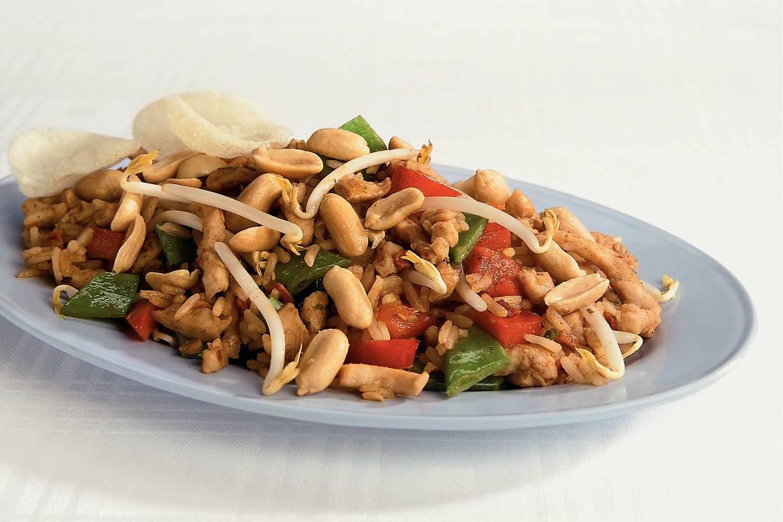 Thaise nasi met kalkoen