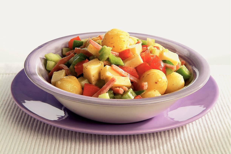 Aardappelsalade met mosterdressing