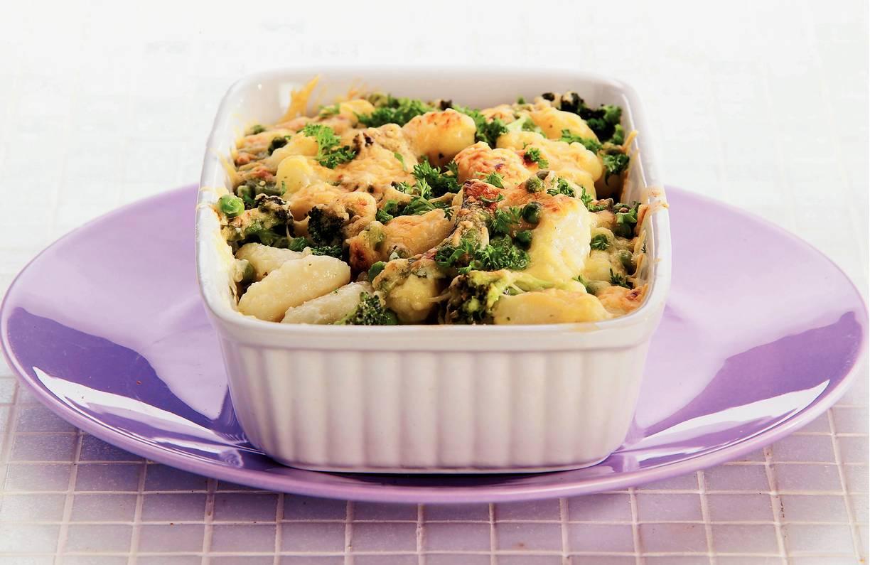 Romige gnocchi met groene groente