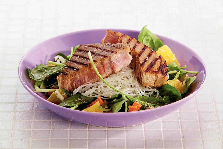 Gemarineerde tonijnsteaks
