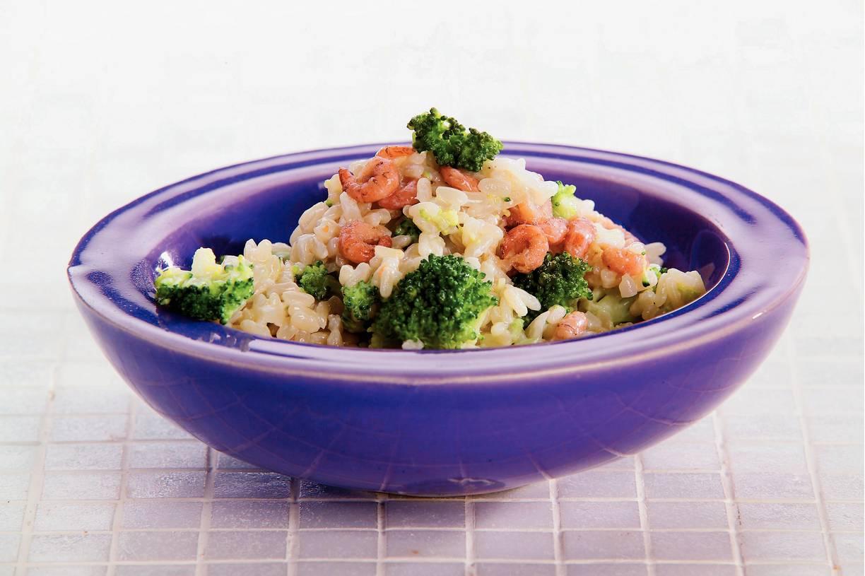 Broccolirisotto met garnalen