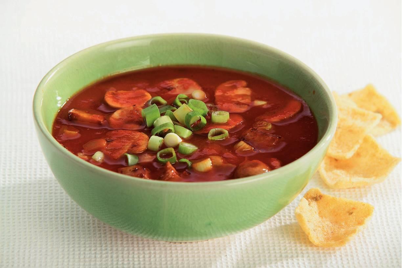 Vegetarische Chinese tomatensoep