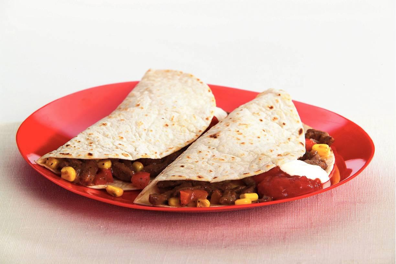 Tortilla's met rundvlees