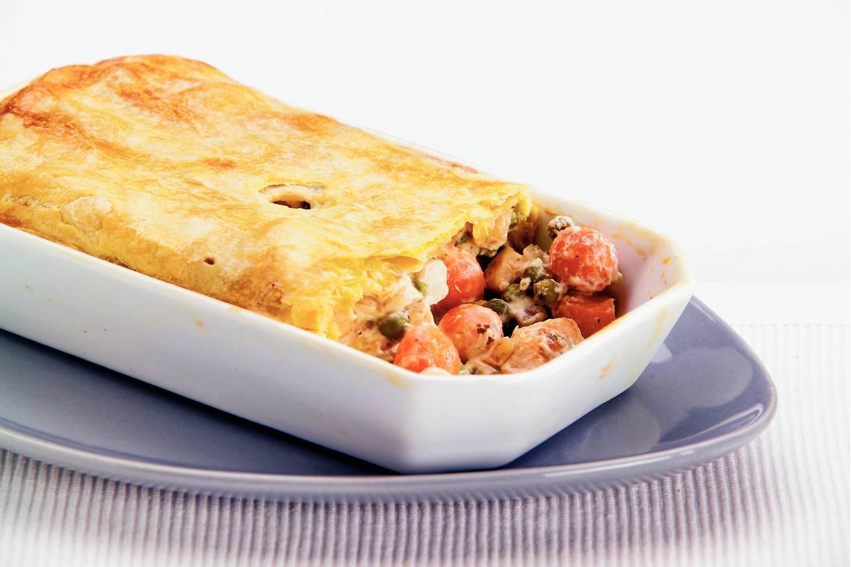 Pastei met kip en groenten