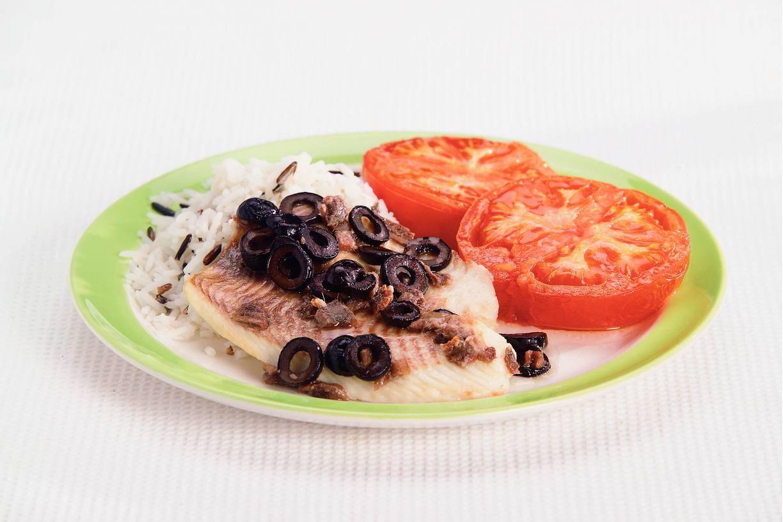 Tilapiafilet met gegrilde tomaten