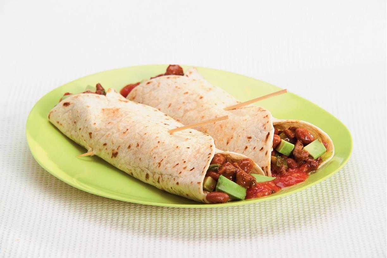Wraps met Mexicaans gekruid rundvlees