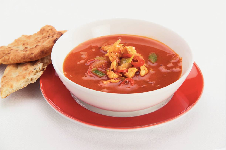 Thaise tomaten-kippensoep