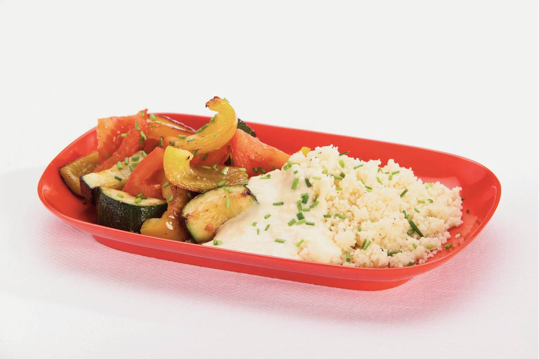 Couscous met lichte kaassaus