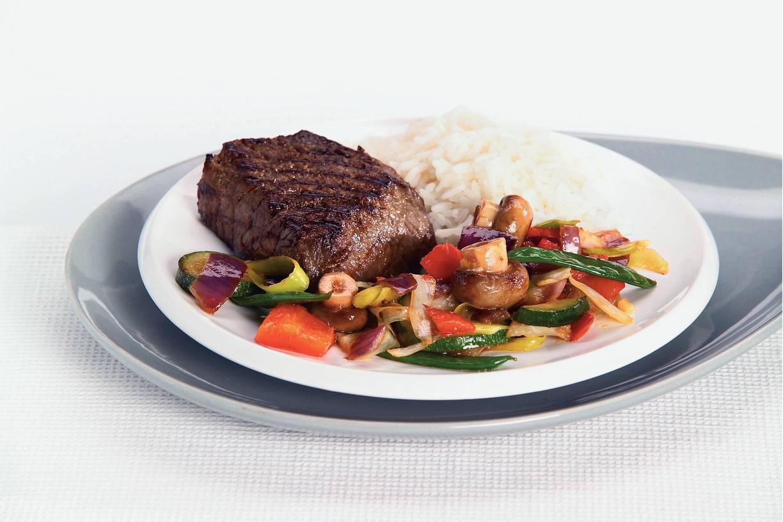 Japanse biefstuk met wokgroente
