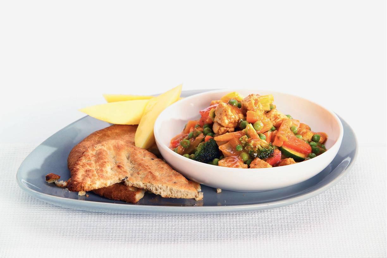 Vegetarische Indiase curryschotel