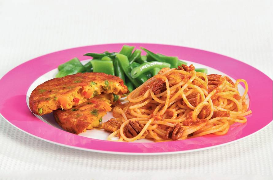 Spaghetti met tomaat-mascarponesaus