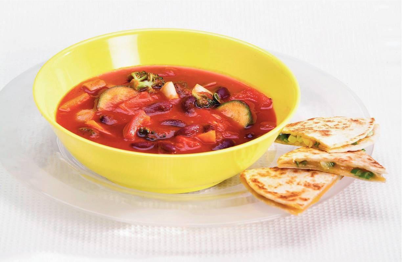 Mexicaanse soep met tacotosti's