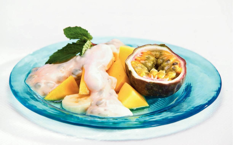 Tropisch fruit met passieroom