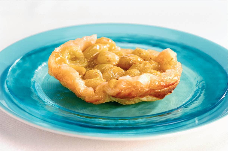 Eenpersoons druiven tarte-tatins