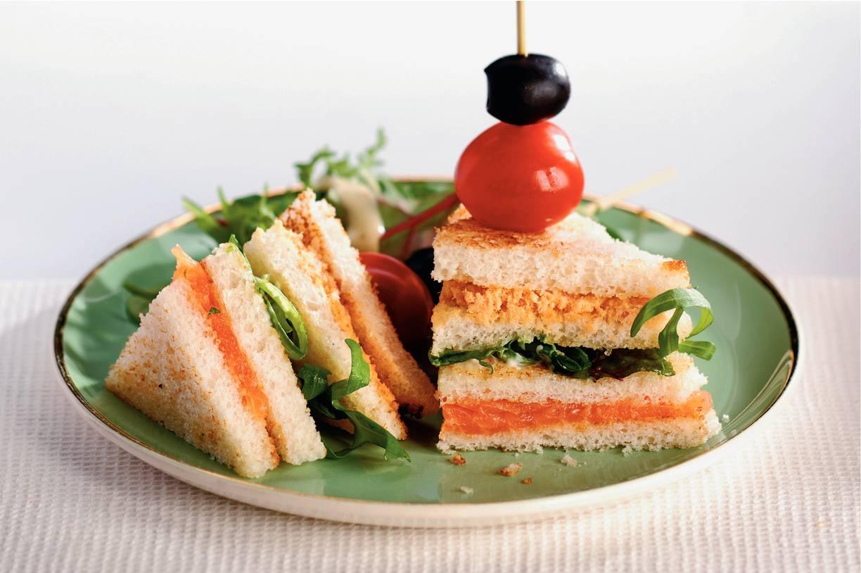 Luxe zalmsandwiches