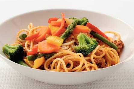 spaghetti recept met gehakt en groenten