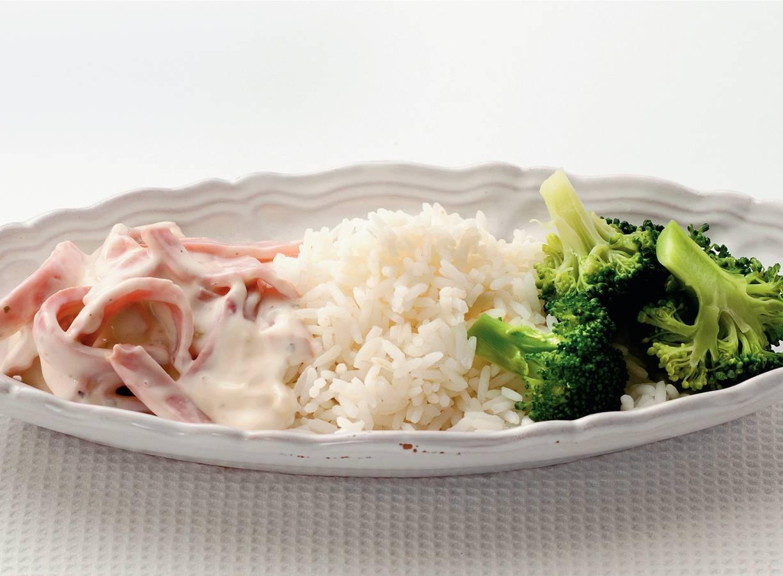 Broccoli met ham-roomsaus