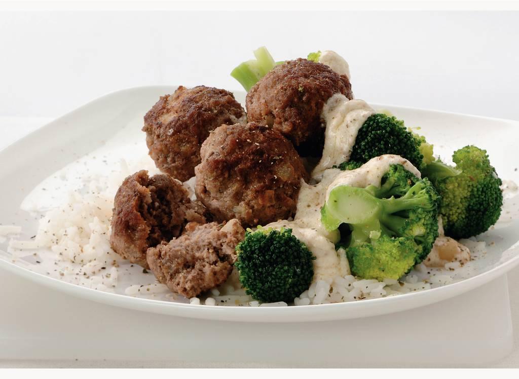 Pepertartaarballetjes met rijst en broccoli - Albert Heijn