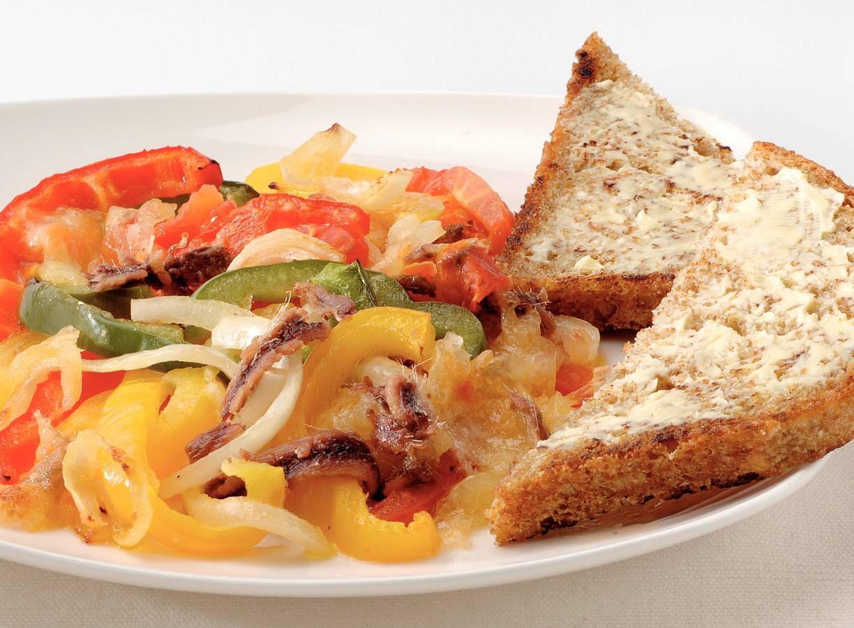 Ovenschotel met ansjovis en mozzarella