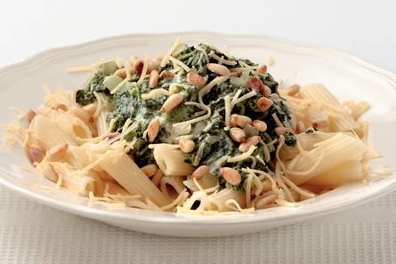 pasta met spinazie boursin