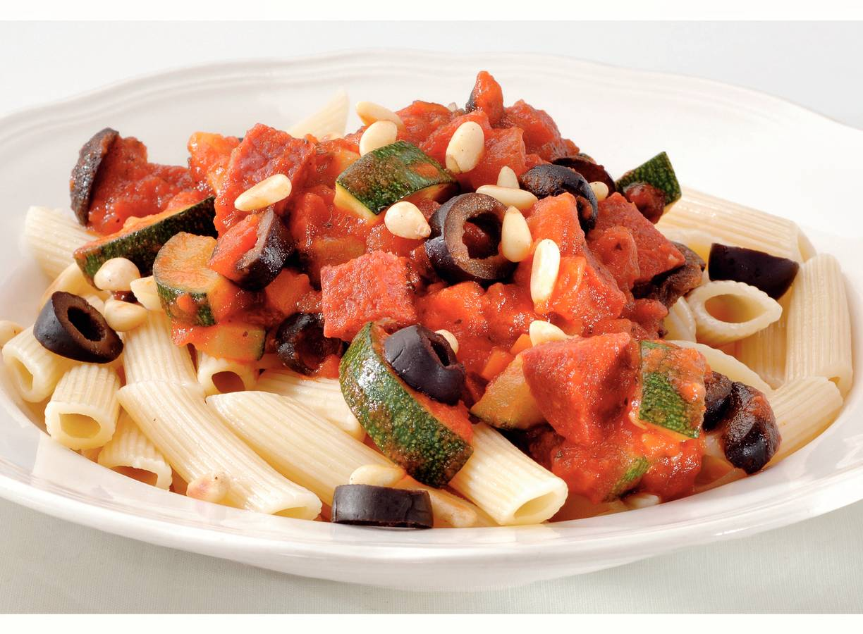 Pittige pasta met salami