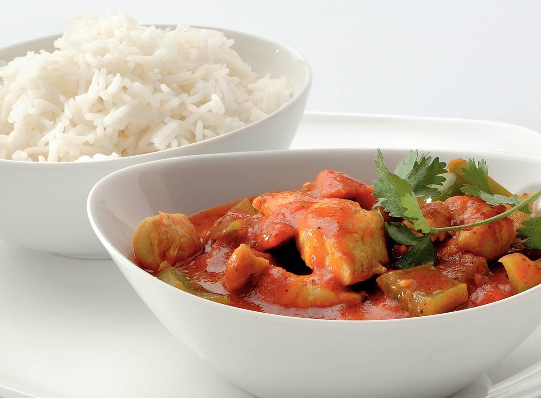 Indiase curry met kip en basmatirijst