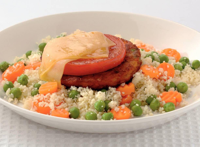 Groenteburger met couscous