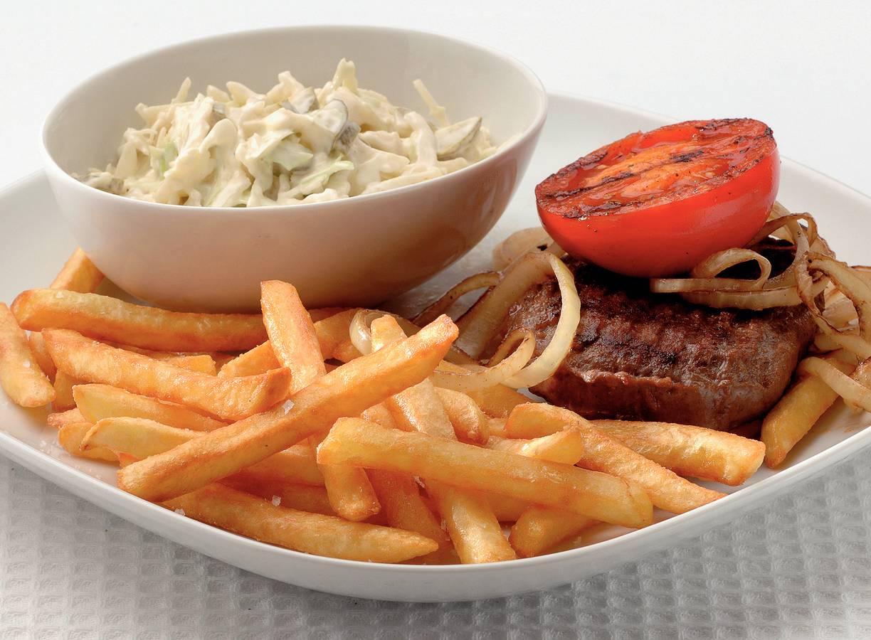 Hamburger met frites