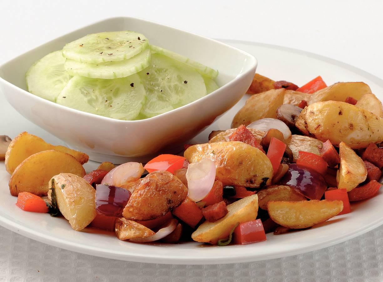 Aardappeltjes met chorizo en paprika