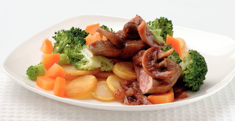 Kalfsschnitzel met portsaus