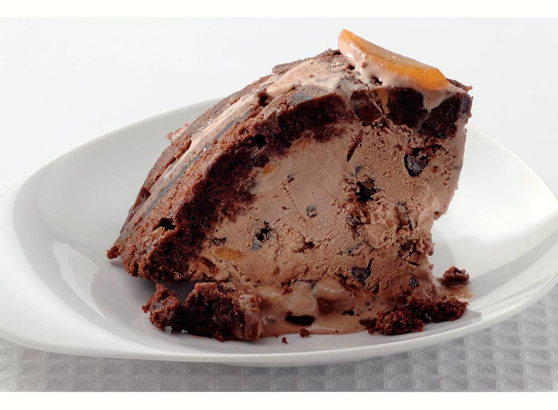 Chocoladeijstaart met sinaasappel