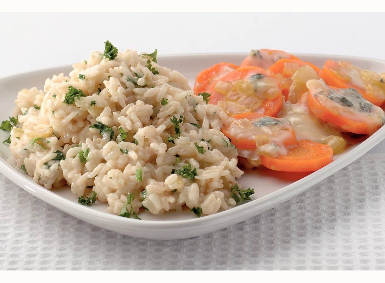 Romige risotto met wortel en gorgonzola