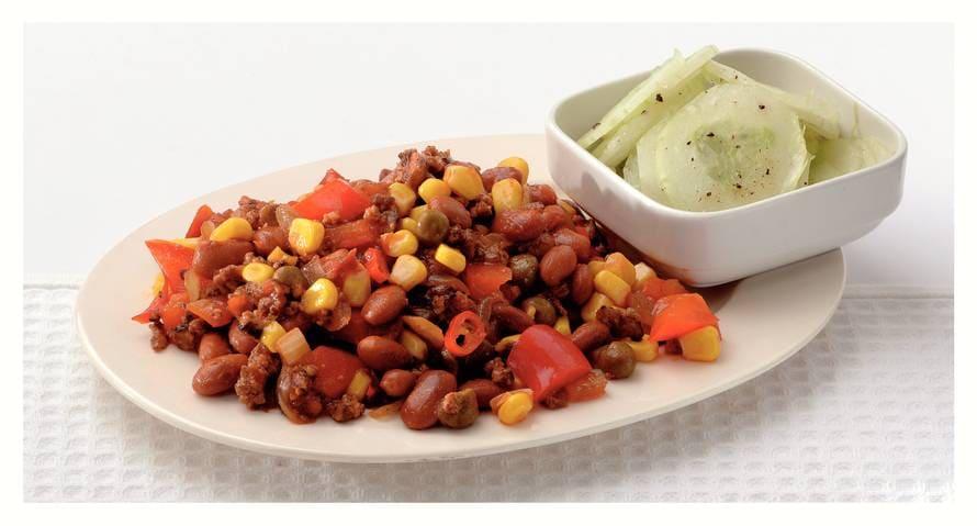 Pittige chili sin carne