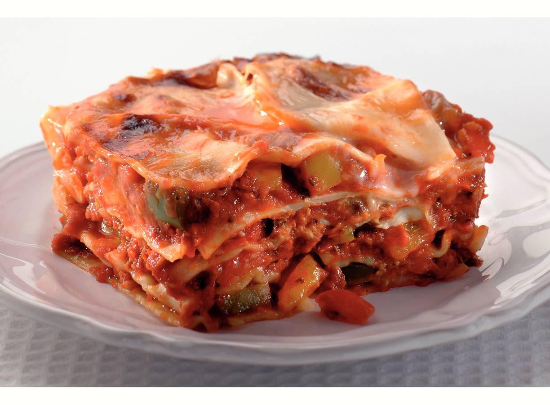Snelle lasagne met sardines en paprika
