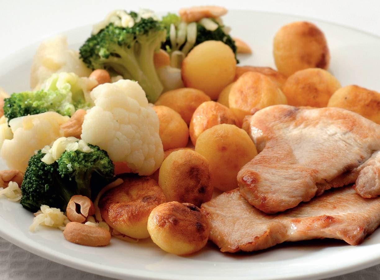 Broccoli en bloemkool met gebakken krieltjes