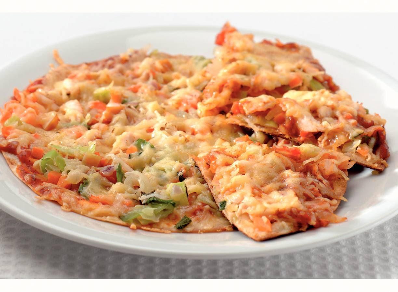 Tortilla's uit de pan met gerookte kip