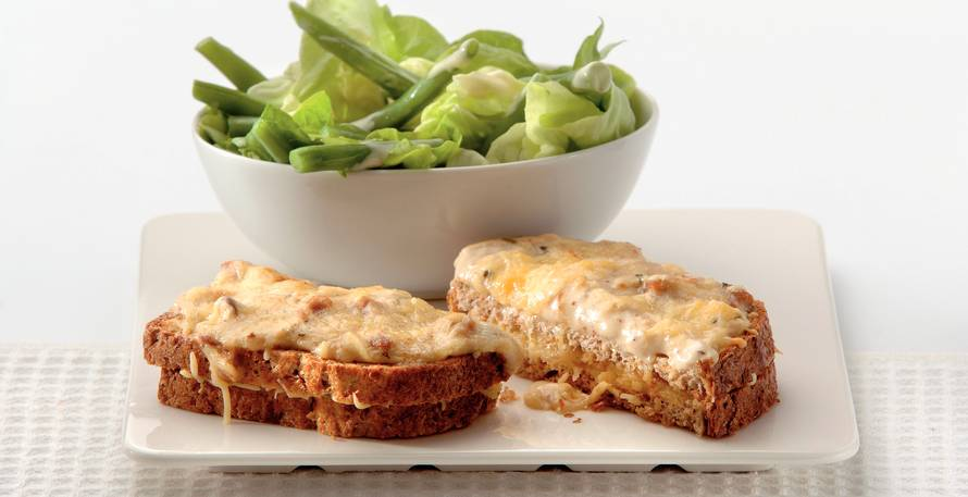 Sandwichragout met boontjessalade