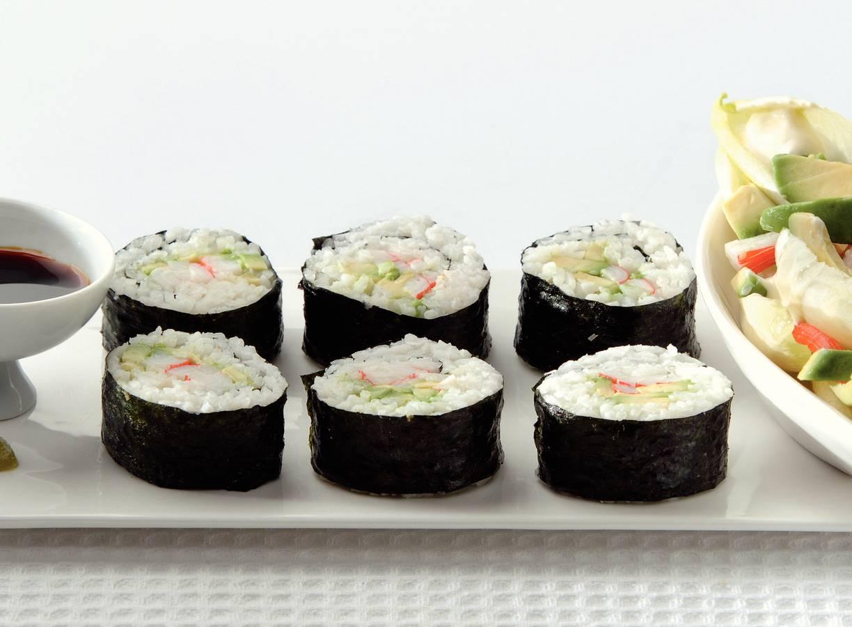 Sushi met witlofsalade
