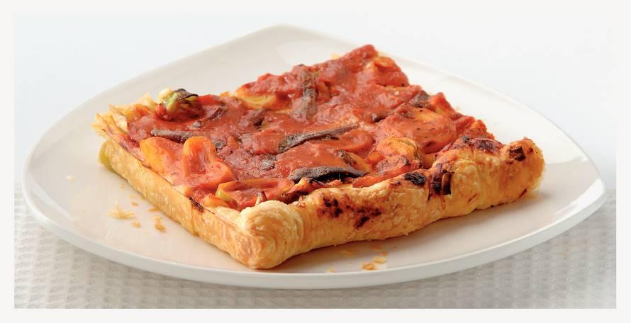 Plaatpizza met ansjovis