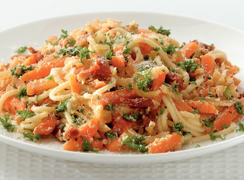 Rijkgevulde spaghetti carbonara