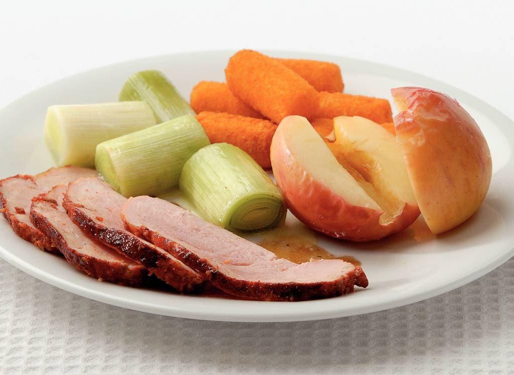 Beenham met gepofte appel uit de oven - Albert Heijn