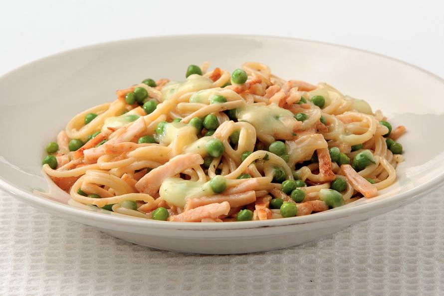 spaghetti kip recept