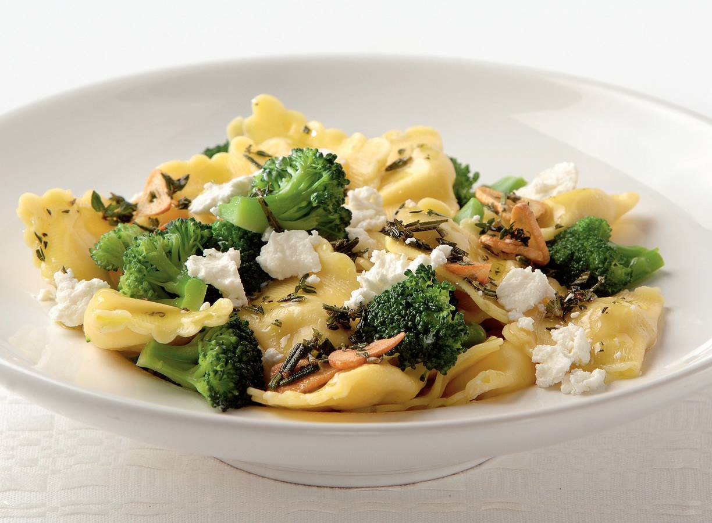 Ravioli met broccoli en geitenkaas