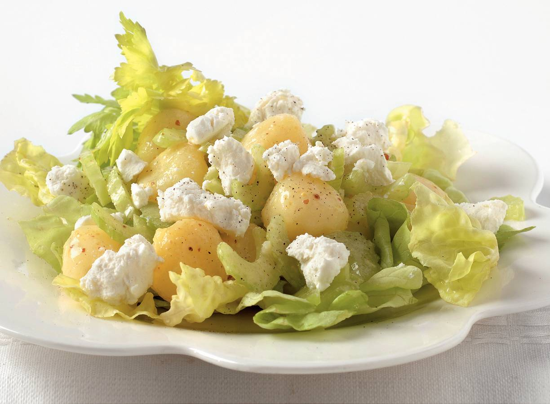Aardappelsalade met geitenkaas