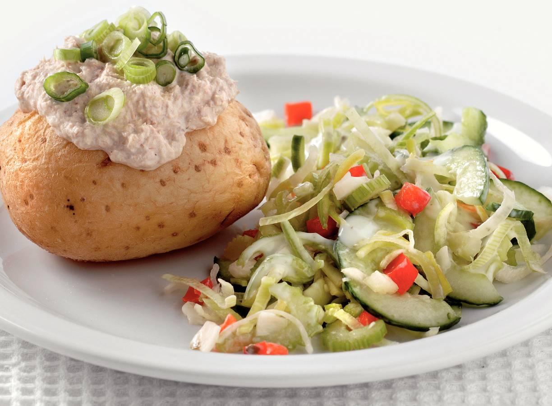 Gepofte aardappelen met makreelmousse
